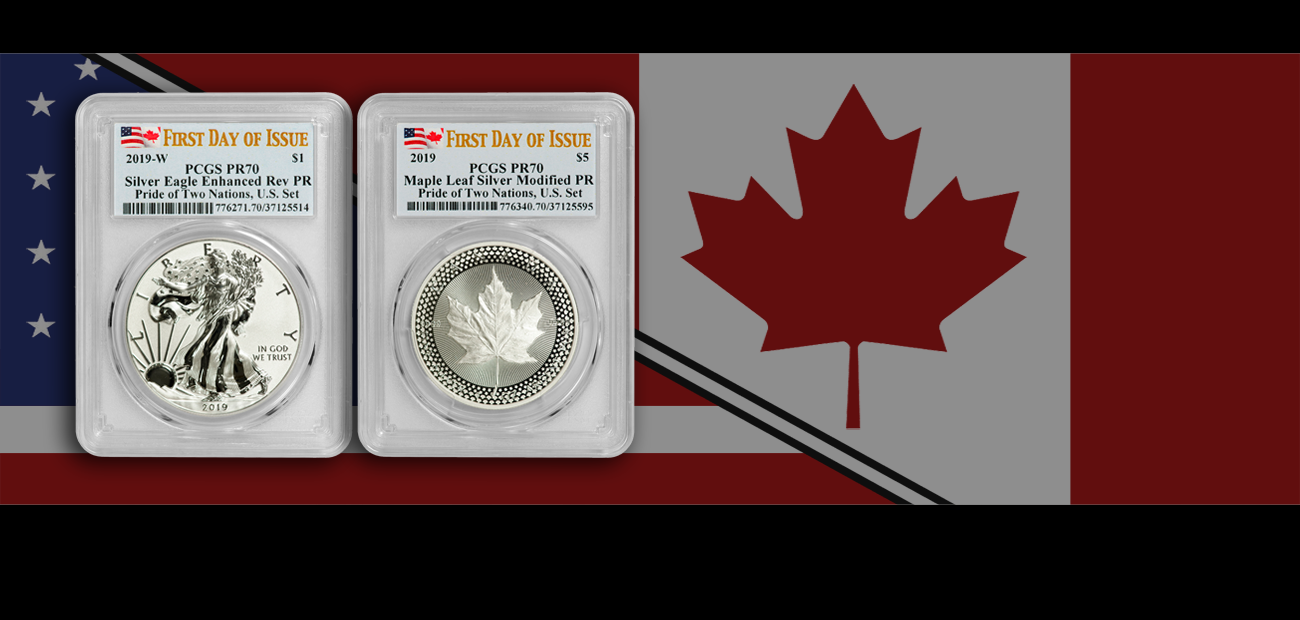 2019 W Reverse Proof Silver Eagle PCGS PR70 FDOI Pride of Two Nations IN HAND