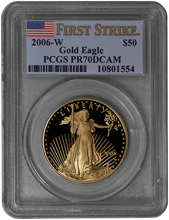 2006 W 50 Gold Eagle Pcgs Pr70dcam Quot First Strike